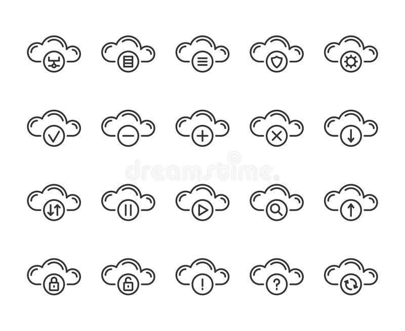 f?r symbolsmodell f?r oklarhet 3d white Linje symbolsuppsättning för molnberäkningsteknologi Redigerbar slagl?ngd, perfekt PIXEL  royaltyfri illustrationer