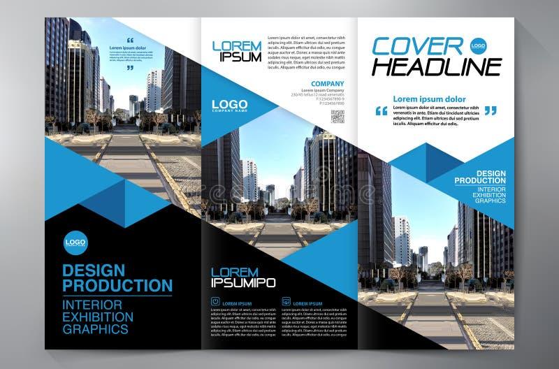 F?r veckreklamblad f?r broschyr 3 mall f?r design a4 arkivfoton