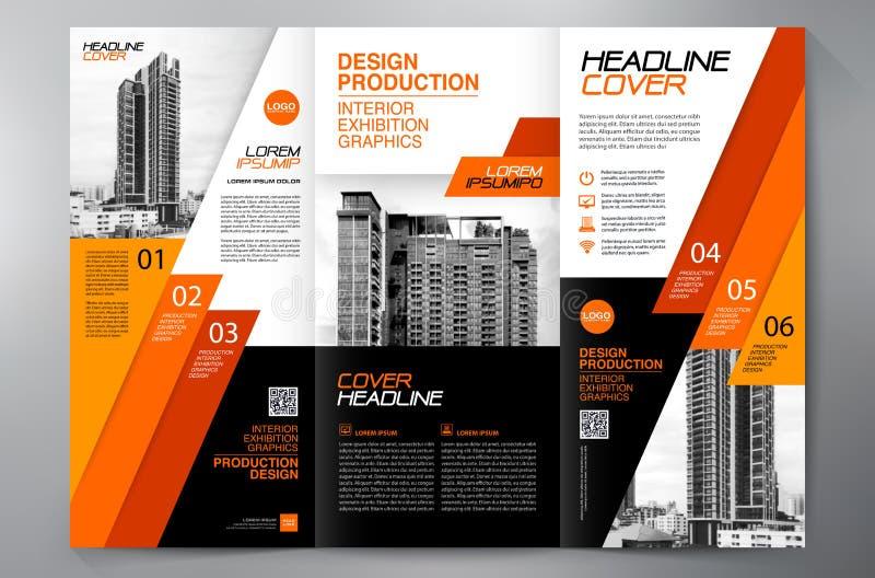 F?r veckreklamblad f?r broschyr 3 mall f?r design a4 fotografering för bildbyråer