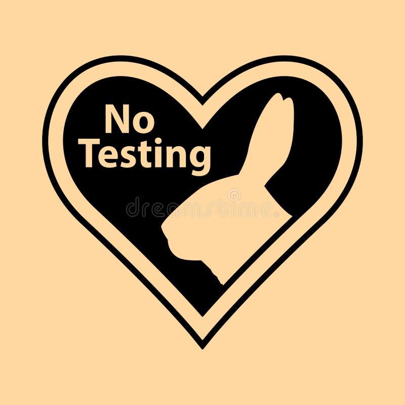 F?r vektorlogo f?r grymhet fri design f?r symbol med kaninsymbol i hj?rtaform?versikt royaltyfri illustrationer