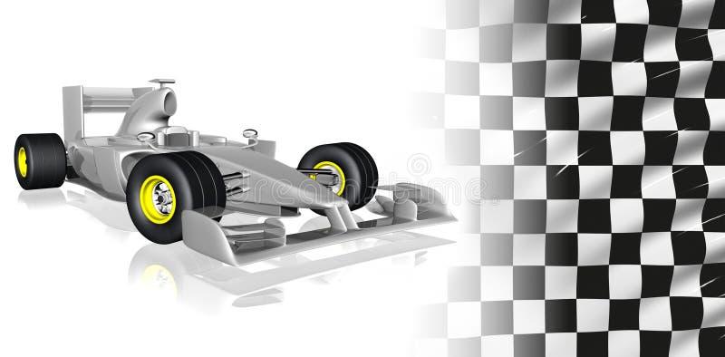 F1 raceauto royalty-vrije illustratie