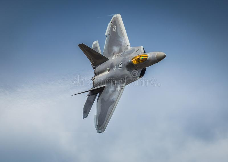 F22 Raptor fighter jet aircraft stock photos