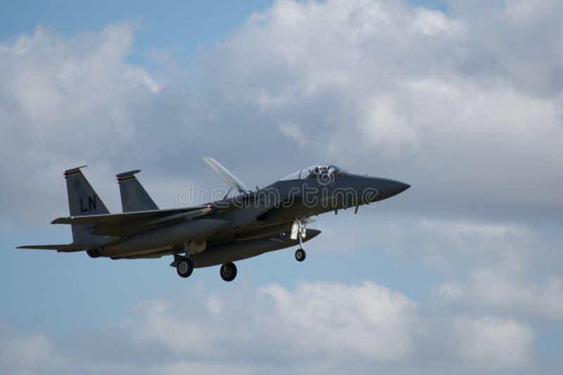 F-22 Raptor Jet Landing stock images