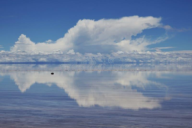 F?rbluffa naturen i Salar de Uyuni, Bolivia arkivfoton