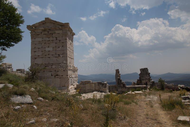 F?rd?rvar av den forntida staden Sagalassos arkivbild