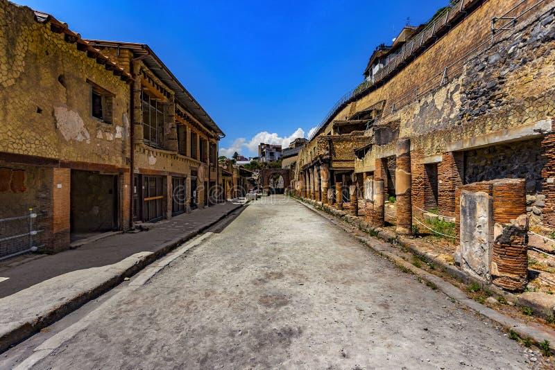 F?rd?rvar av Herculaneum, Italien fotografering för bildbyråer