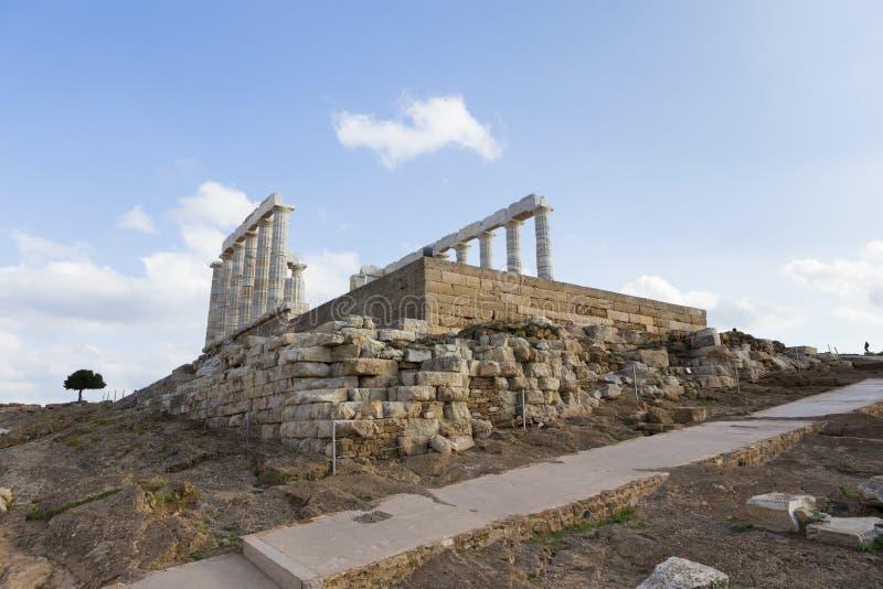 F?rd?rvar fr?n templet av Poseidon arkivfoto