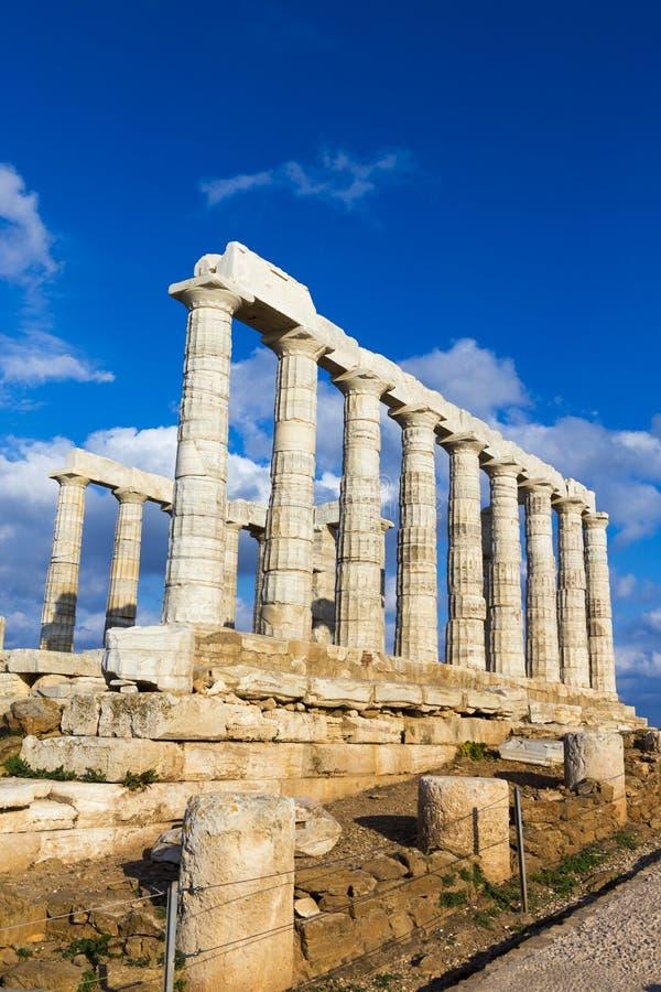 F?rd?rvar fr?n templet av Poseidon royaltyfri foto