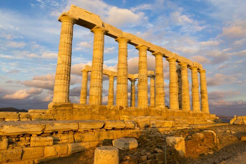 F?rd?rvar fr?n templet av Poseidon royaltyfria foton