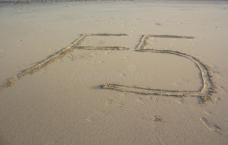 F5 refresh sign on sand royalty free stock photos