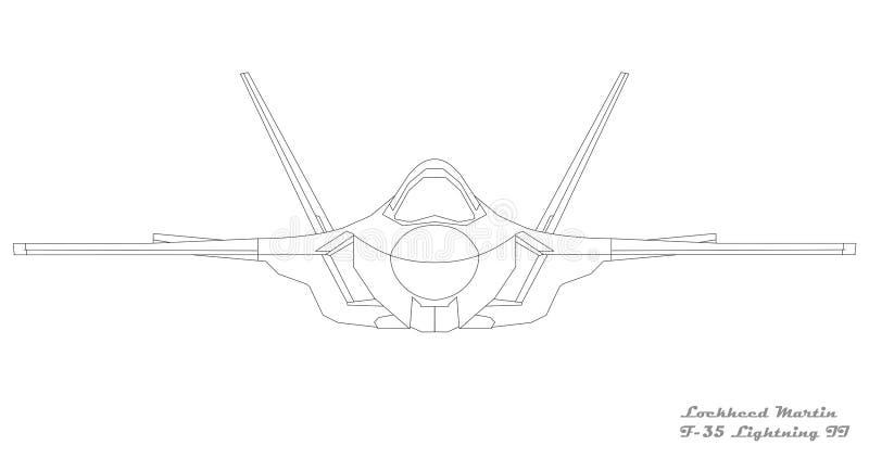 F-35 relâmpago II - parte dianteira fotografia de stock