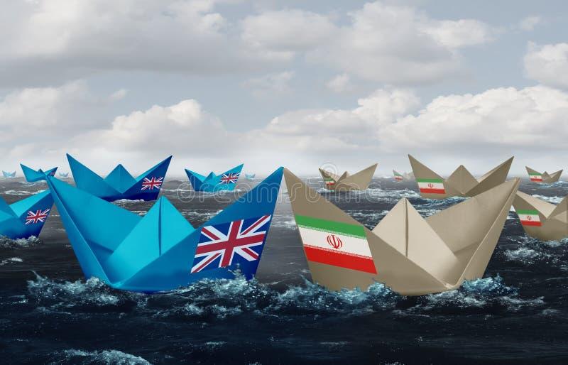 F?renade kungariket och Iran vektor illustrationer