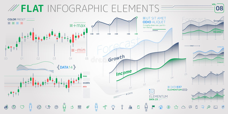 F?retags Infographic best?ndsdelsamling vektor illustrationer