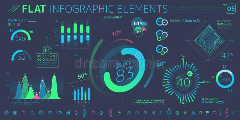 F?retags Infographic best?ndsdelsamling stock illustrationer