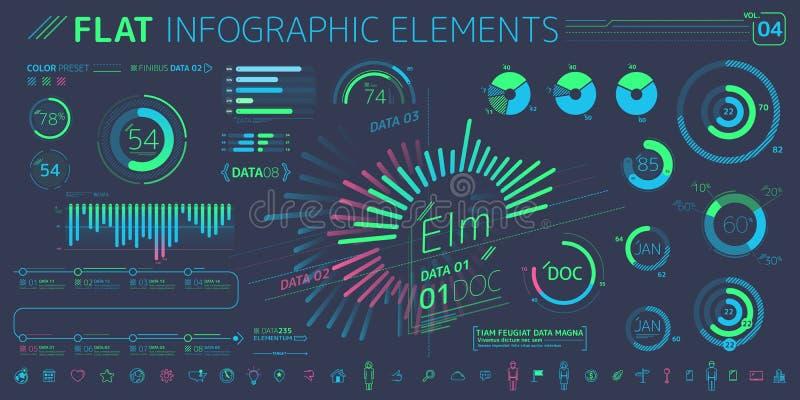 F?retags Infographic best?ndsdelsamling royaltyfri illustrationer