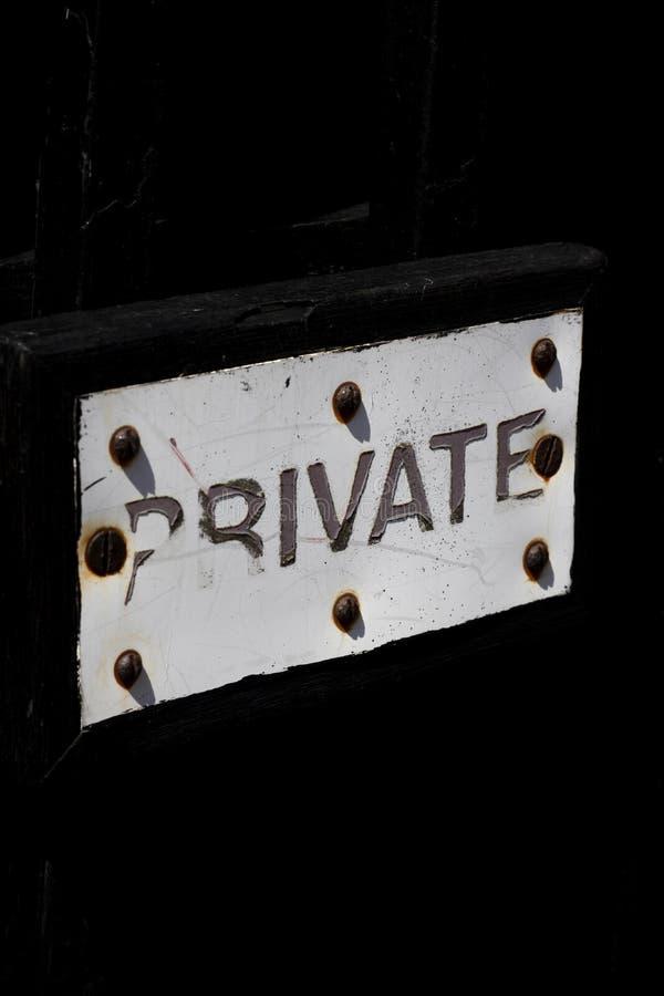 F?rfallet privat tecken royaltyfri bild