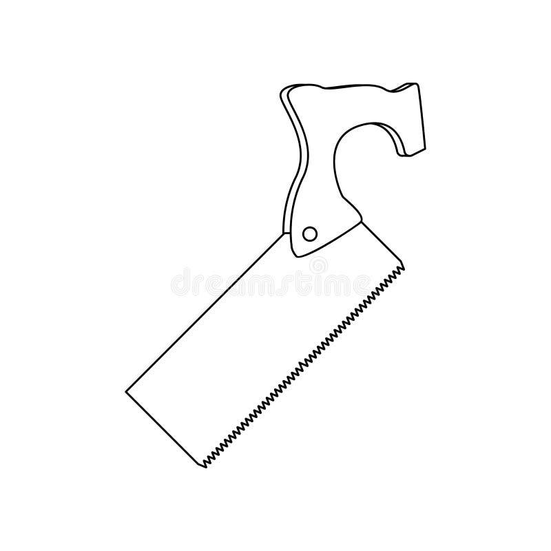 f?rg s?g f?r tr?symbol Best?ndsdel av konstruktionshj?lpmedel f?r mobilt begrepp och reng?ringsdukappssymbol ?versikt tunn linje  vektor illustrationer
