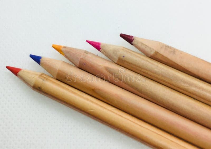 f?rgade blyertspennor arkivbilder