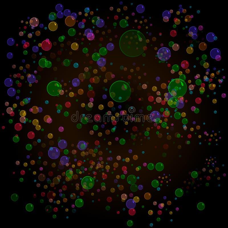 f?rgade bubblor vektor illustrationer
