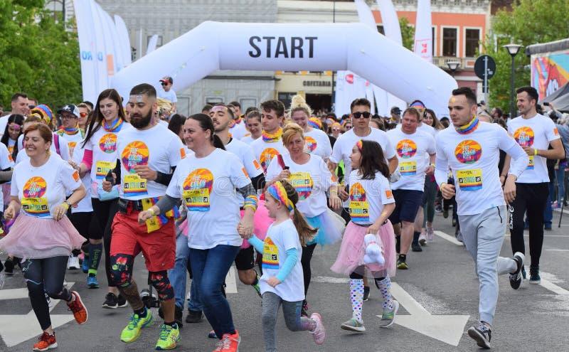 F?rgk?rningsfestival Cluj Napoca 2019, Rum?nien fotografering för bildbyråer