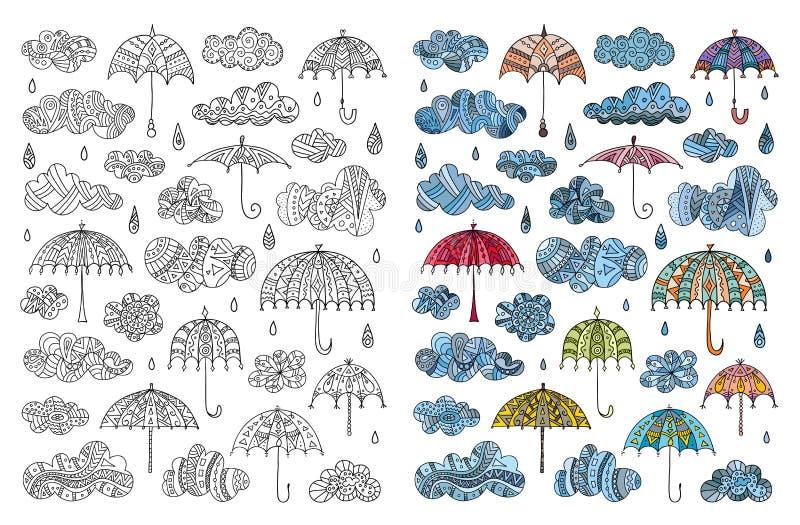 F?rgl?ggningbok p? regnet ocks? vektor f?r coreldrawillustration stock illustrationer