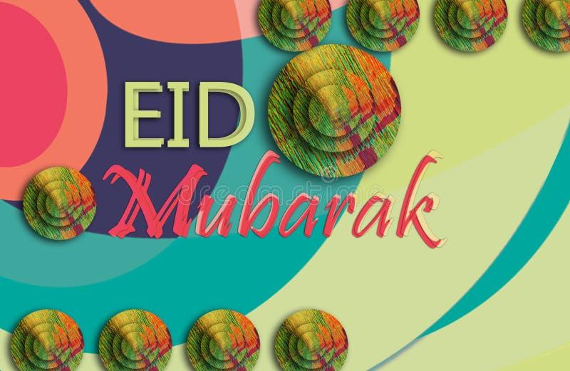 f?rgrik abstrakt bakgrund Eid mubarak färgrik texturbakgrund arkivfoto