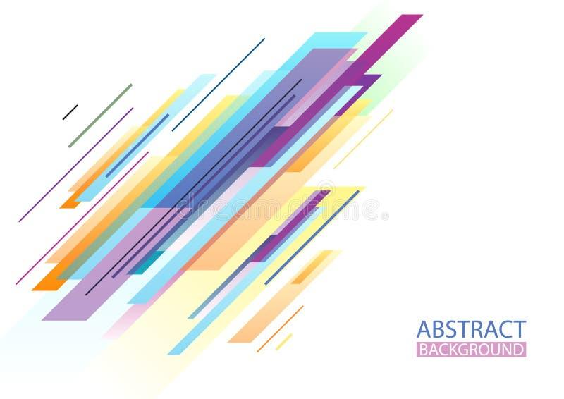F?rgrik abstrakt geometrisk formbakgrund stock illustrationer