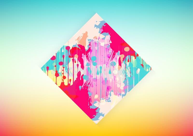 f?rgrik form f?r vektor och geometrisk bakgrund, illustrationvektordesign stock illustrationer