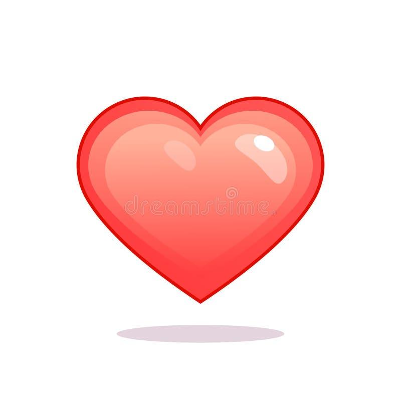 F?rgrik hj?rtasymbol Symbol av förälskelse, valentin dagtecken, vektor EPS10 vektor illustrationer