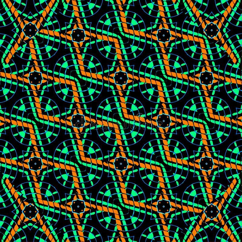 F?rgrik modern geometrisk s?ml?s modell royaltyfri illustrationer