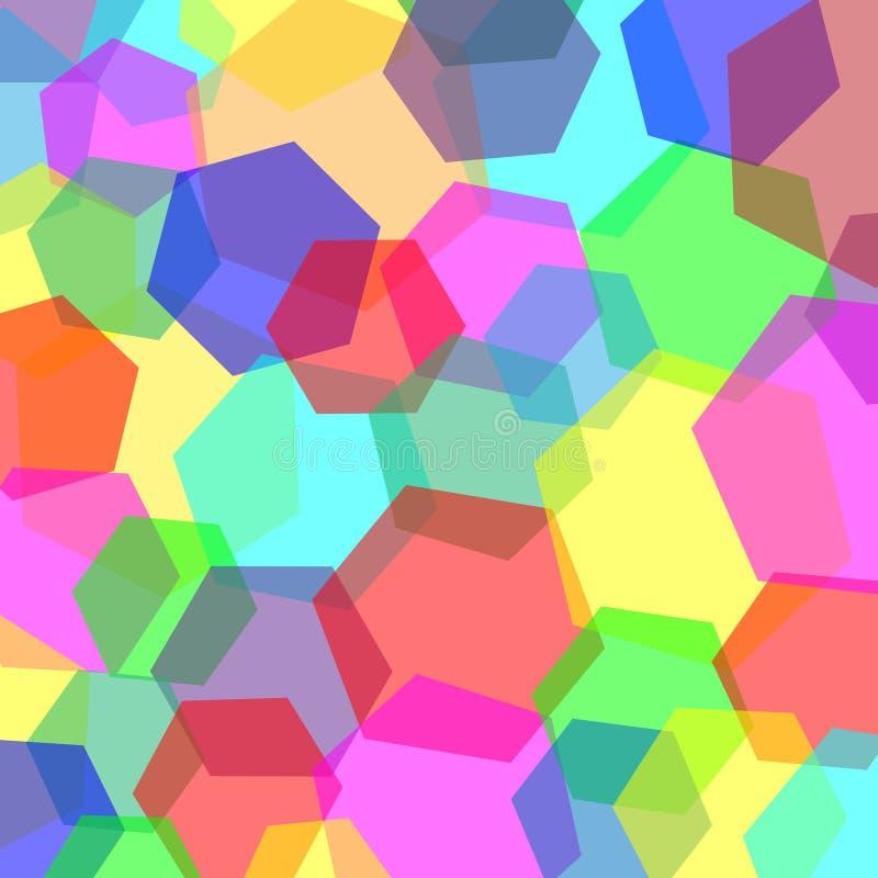 f?rgrik mosaik f?r bakgrund Lycka- och fredsymbol Keramiskt bel?gga med tegel texturerar vektor royaltyfri illustrationer