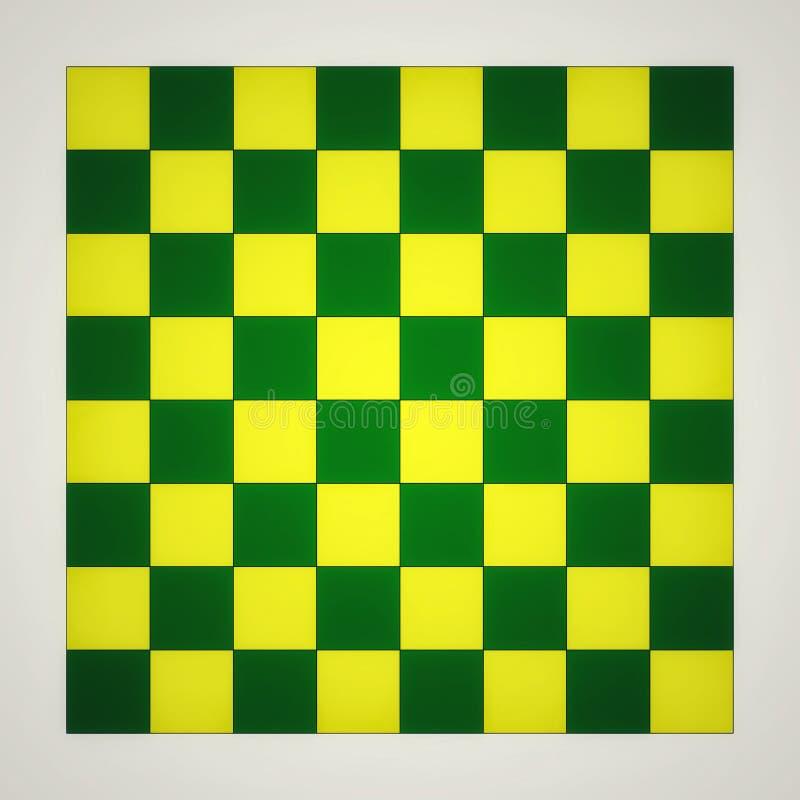 F?rgrik schacktabell royaltyfri illustrationer