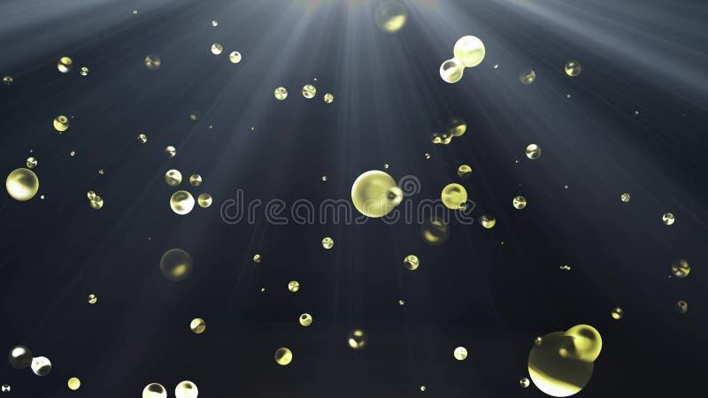 F?rgrik v?tskemetallvattenbubbla i digital illustrationbakgrund ny kvalitets- naturlig kall trevlig h?rlig 4k f?r utrymme royaltyfri illustrationer