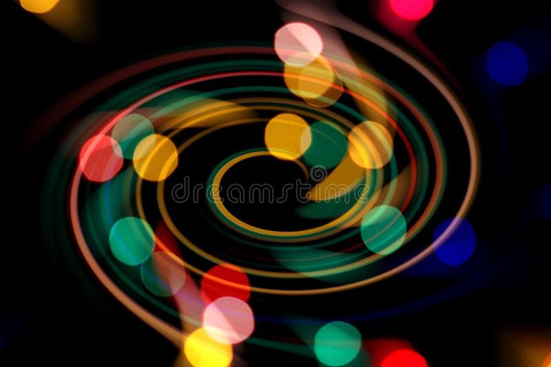 F?rgrika cirklar av ljusabstrakt begreppbakgrund Modell f arkivbilder