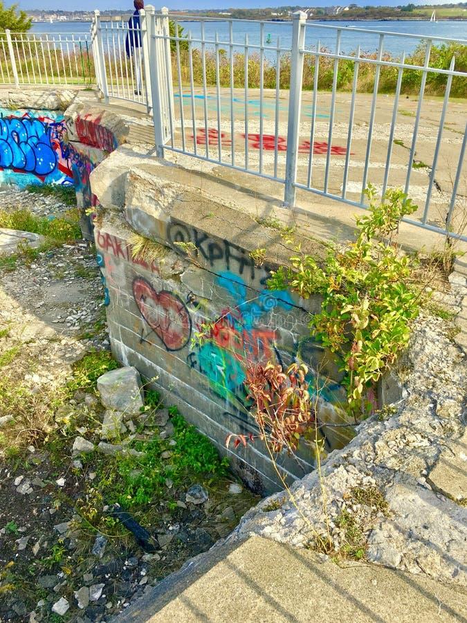 f?rgrika grafitti arkivbilder
