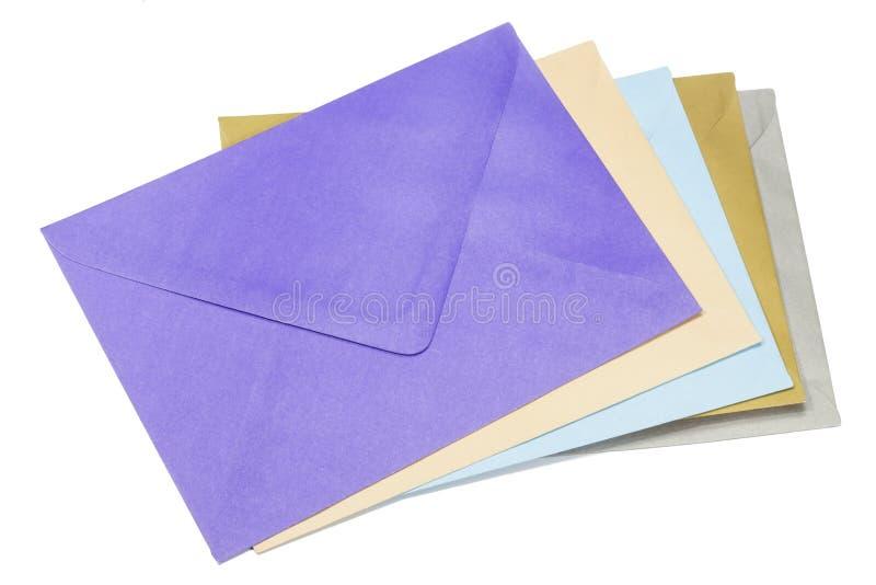 f?rgrika kuvert fotografering för bildbyråer