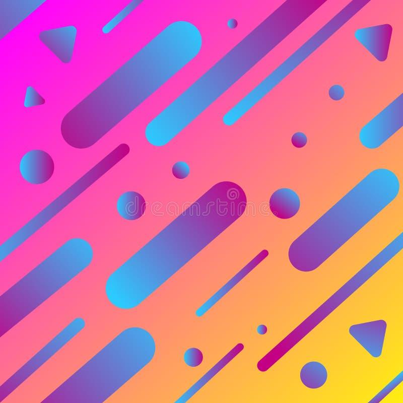 f?rgrikt geometriskt f?r bakgrund Dynamisk formsammans?ttning stock illustrationer