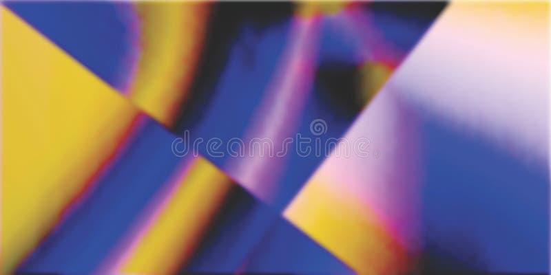 F?rgrikt, krabbt och suddighet med 3 D och dator f?r belysningeffekt som frambrings f?r bakgrund och tapetdesign royaltyfri illustrationer