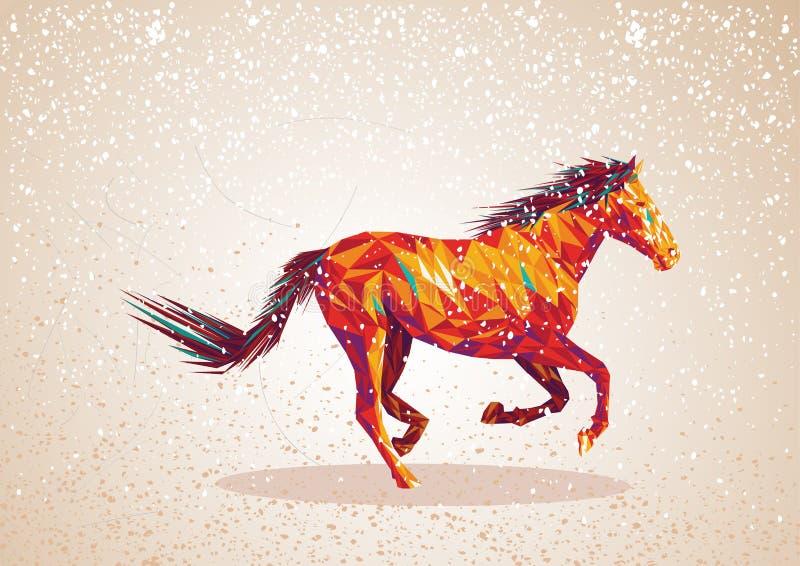 Fôrma abstrata colorida do cavalo. ilustração royalty free