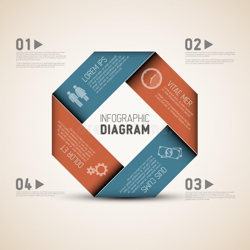 Fôrma abstrata com Infographic ilustração do vetor