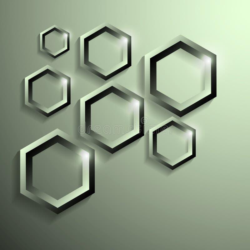 Fôrma poligonal moderna ilustração stock
