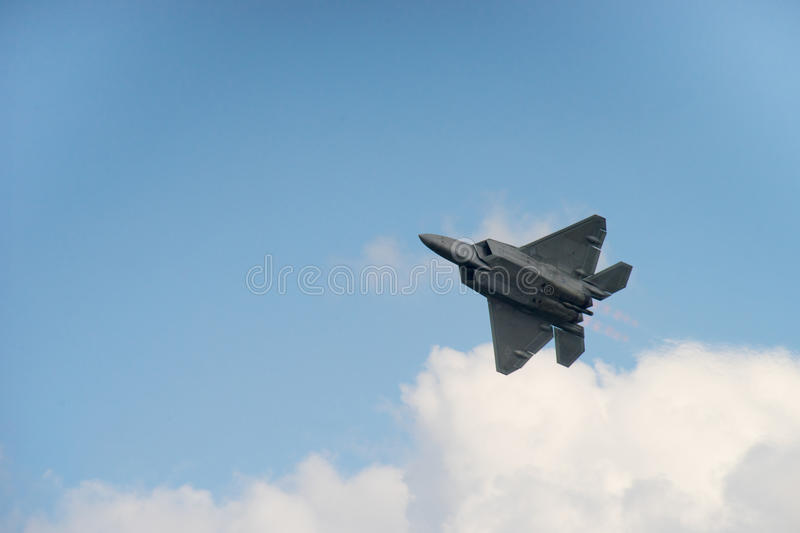 F-22 roofvogel stock foto