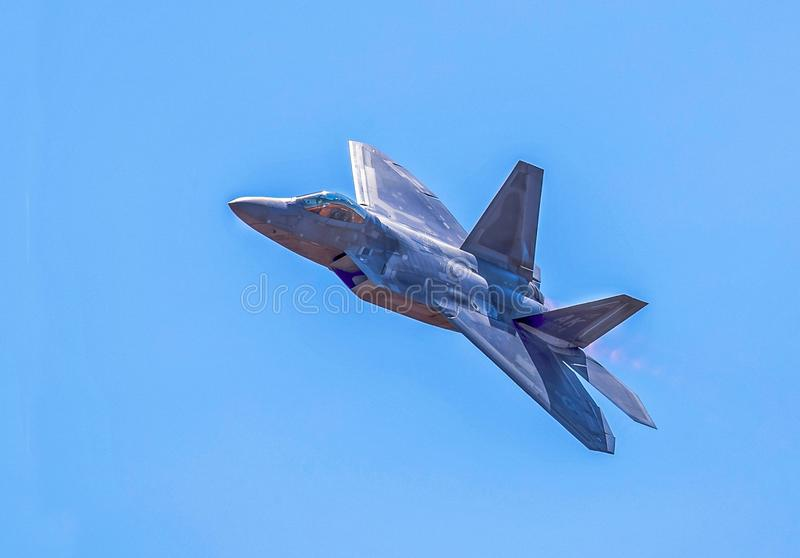 F-22A Roofvogel royalty-vrije stock afbeelding