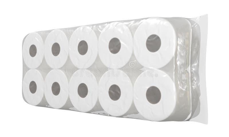 F?rpacka f?r toalettpapper vektor illustrationer
