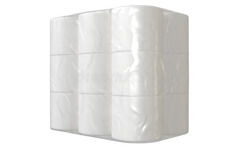 F?rpacka f?r toalettpapper royaltyfri illustrationer