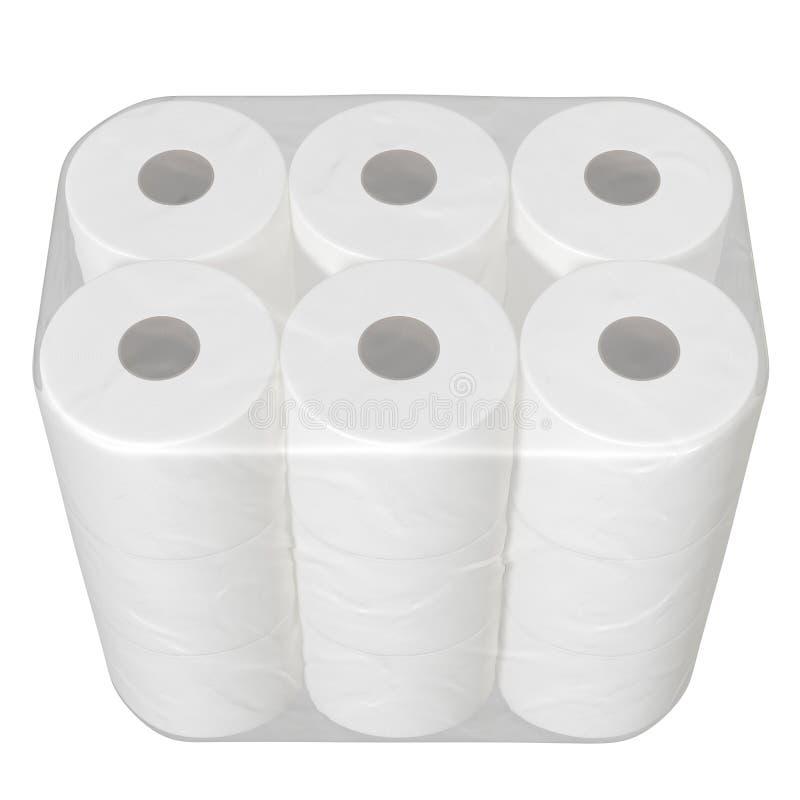 F?rpacka f?r toalettpapper stock illustrationer