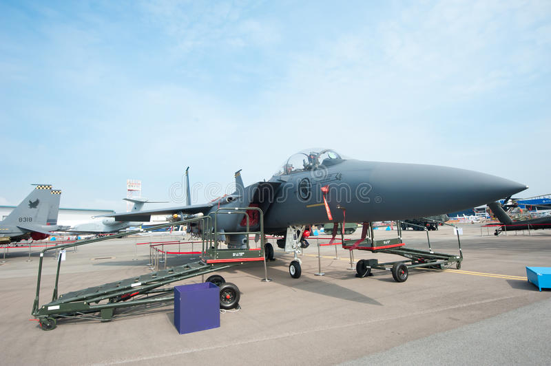 F15-SG in Singapore Airshow 2014 royalty-vrije stock fotografie