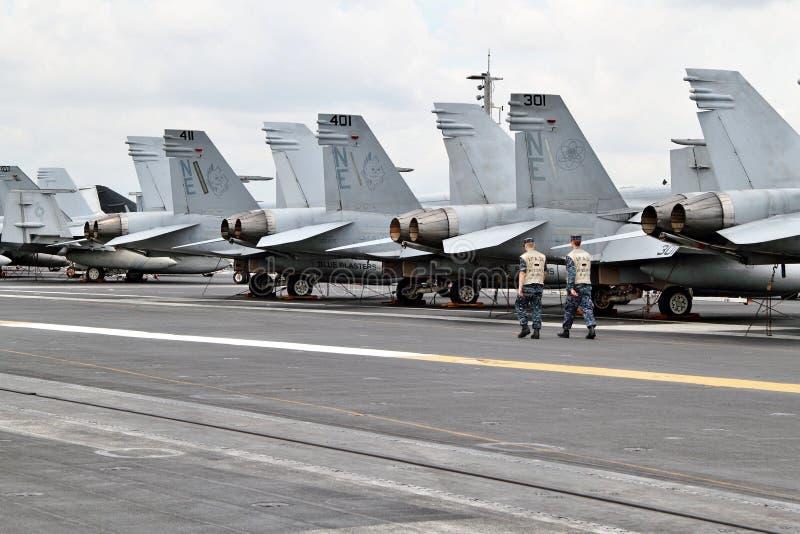 F18 Super Horzels royalty-vrije stock afbeeldingen
