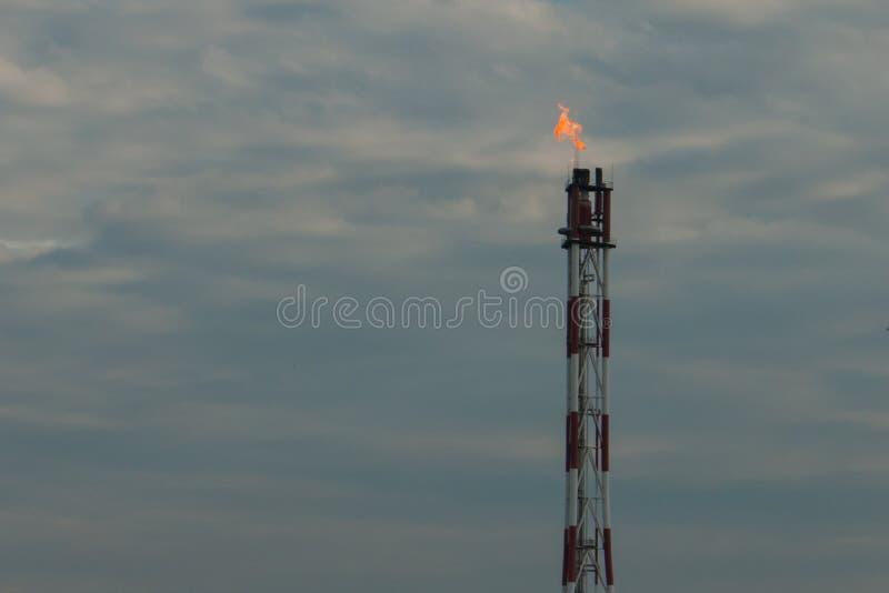 Fût de torche de gaz photographie stock libre de droits