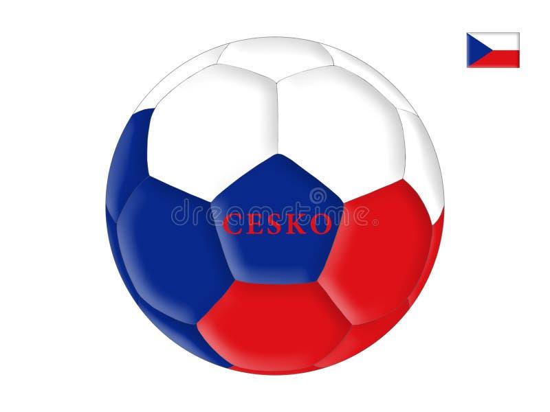 F?tbol checo ilustración del vector